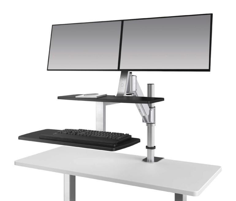 Climb2 Dual Monitor Sit-Stand Workstation