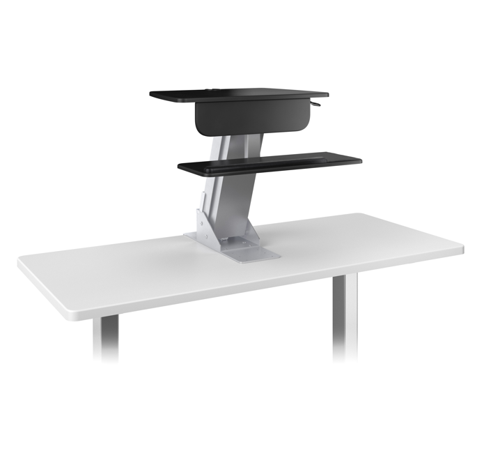 Ergorise Lift Desktop Sit-Stand Workstation with Wooden Base