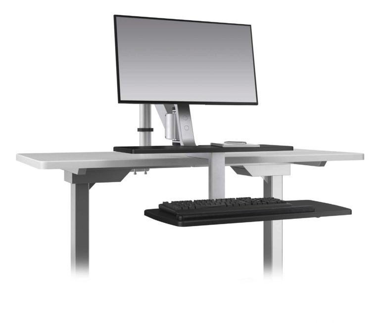 Climb1 Single Monitor Sit-Stand Workstation