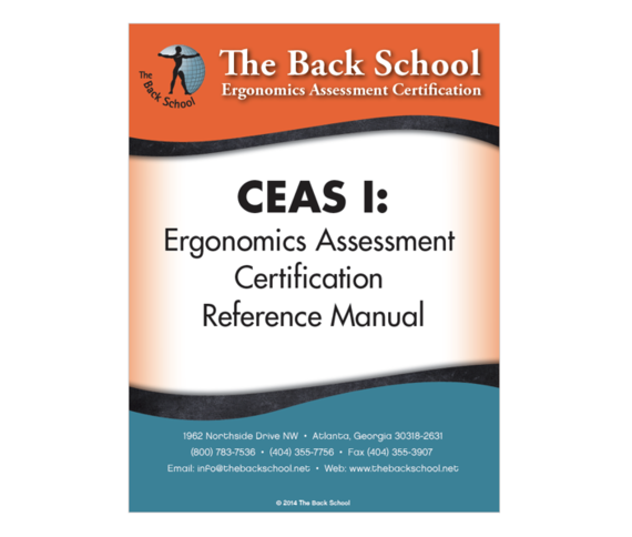 CEAS I - Ergonomics Assessment Certification Reference Manual