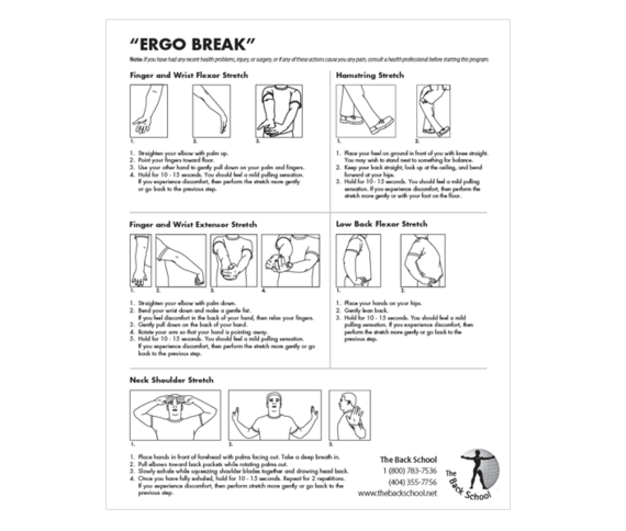 ERGO BREAK Wellness Sheets