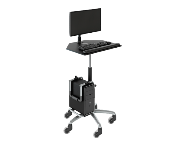 Workstation on Wheels with CPU Holder
