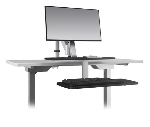 Climb1 Single Monitor Sit-Stand Workstation